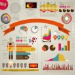 Set of colored Infographic Elements. — Stock vektor