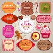 Vintage set of grunge stickers, labels and tags for coffee or bakery — Stock Vector #34309577