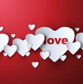 Valentine's red background — Stock Vector