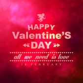 Valentine's postcard with Valentine's day wishes — Vettoriale Stock