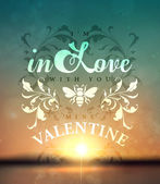 Valentine's day postcard with declaration of love — Stock Vector