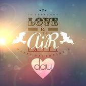 Cartão postal dia dos namorados com slogan romântico — Vetorial Stock