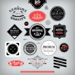 Set of vintage stickers, cards and labels. — Stock Vector #40667545