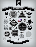 Hipster style collection of elements — Stock Vector
