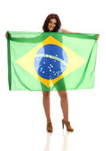Beautiful Brazilian Fan — Stock Photo
