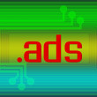 Stock Photo: Dot ADS domain name