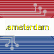 Stock Photo: Dot AMSTERDAM domain name
