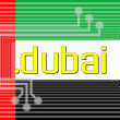 Stock Photo: Dot DUBAI domain name
