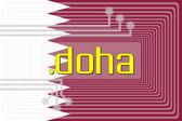 Dot DOHA domain name — Stock Photo