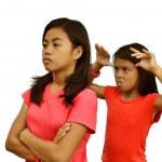 Sisters Quarrel — Stock Photo