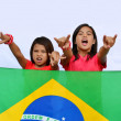 Native Young Brazilian Supporters — Foto de Stock
