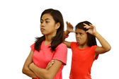 Sisters Quarrel — Stockfoto
