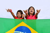 Native Young Brazilian Supporters — Photo