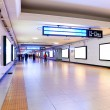 Stock Photo: Train station underpass