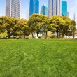 City park with modern building background in shanghai — Stock Photo #18854753