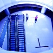 The escalator of the building in beijing china — Stock Photo