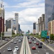 Traffic through downtown Beijing - Foto de Stock  