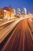 Traffic at night — Stock Photo