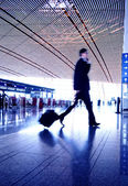 Hurrying in airport — Stock Photo