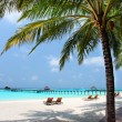 Panorama of tropical beach, travel vacation background — Foto de Stock