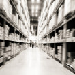 Photo: Warehouse shelves