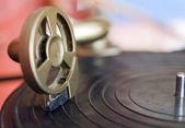 Detail fotografie z vinobraní gramofon — Stock fotografie