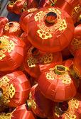 Linternas rojas chino — Foto de Stock