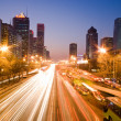 Stock Photo: Traffic at night in Beijing