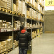 Warehouse shelves — Stockfoto