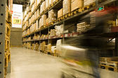 Large warehouse perspective — Stock Photo