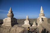Mongolia interna, alxa league, ejinaqi, città nera — Foto Stock