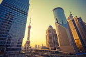 Skyscrapers in Shanghai China — Stock Photo
