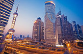 Shanghai Skyline at night — Stock Photo