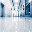 Office corridor door glass — Stock Photo #23035242