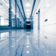 Office corridor door glass — Stock Photo #23035460