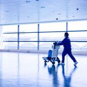 Pasażerów na lotnisku pudong szanghaj — Zdjęcie stockowe