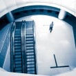 The escalator inside the building — Stock Photo