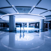 Interior - lobby of a upper class shopping mall — Stock Photo