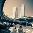 Downtown intersection, Beijing china — Photo