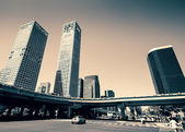 Downtown intersection, Beijing china — Stock Photo