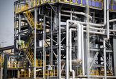 Chemical plant pipeline closeup — Stock Photo