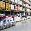 Large furniture warehouse — Foto Stock