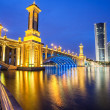 Scenic Bridge at night in Putrajaya, Malaysia. — Stock Photo