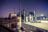 Chemical plant in the sunset — Stock Photo