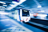 Metro Train with motion blur effect — Stock Photo