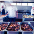 Kitchen of a chinese restaurant — Stock Photo