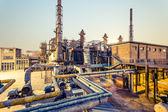 Chemical plant at twilight — Stock Photo