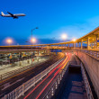 International Airport Terminal T3 night in Beijing — Stock Photo