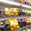 Shelf with fruits in supermarket — Stock Photo