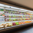 Shelf with fruits in supermarket — Foto Stock